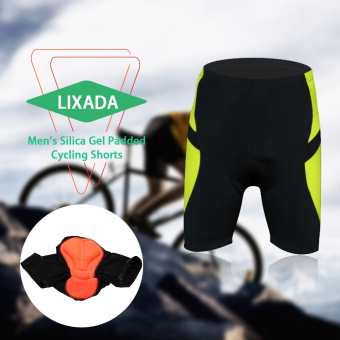 LIXADA Men's Cycling Shorts Bike Bicycle Silica Gel Padded Short Pants - intl Price Philippines