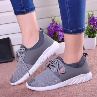 Harga Spring New Old Beijing Shoes Women's Shoes Sports Leisure (Grey) - intl