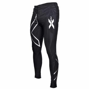 New Muscle Containment Stamping Compression Tights (Black Silver) Price Philippines