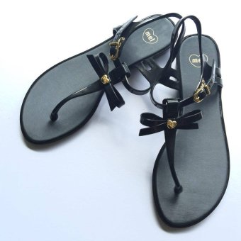 Harga Mel Dreamed by Melissa Special II Ribbon Sandals (Black)