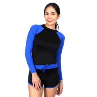 Island Paradise Rash Guard for Women (Blue) Price Philippines