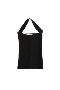 Amango Sexy Women Halter Neck Low Cut Tight Vest (Black) Price Philippines