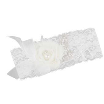 BolehDeals Flower Wedding Garter (White) - Intl Price Philippines