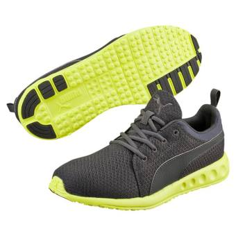 Harga Puma Carson Mesh Men's Running Shoes (Asphalt/Safety Yellow)