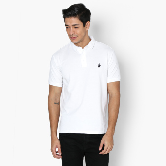 Beverly Hills Polo Club Mens Pique Polo Shirt (White) Price Philippines