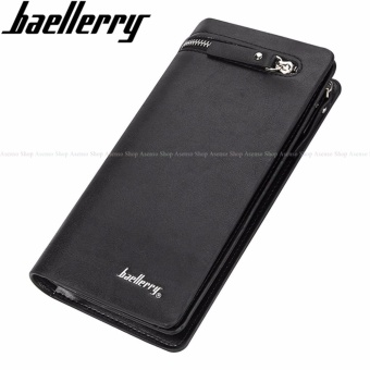 Baellerry Men Fashion Elegant Leather Long Zipper Wallet Black Price Philippines