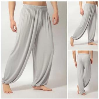 C236 Fashion Lady's Solid Leisure Modal Women's Light Grey Sports Bloomers Tai Chi Pants - intl Price Philippines