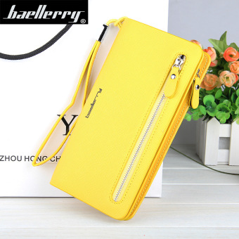 BYT Baellery Long Women Leather Zipper Wallet 201502 ( Yellow ) - Intl Price Philippines