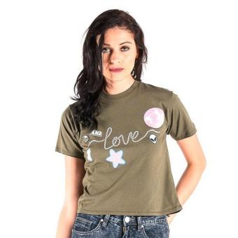 Harga OXYGEN Patched Tee (Olive)