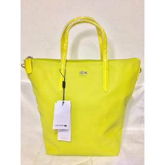 LACOSTE WOMEN'S L.12.12 CONCEPT VERTICAL TOTE BAG YELLOW Price Philippines