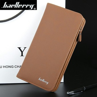 BYT Baellery Premium PU Leather Long Men Wallet Handbag S410 (Dark Brown) Price Philippines