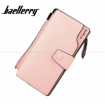 Baellerry Women Fashion Elegant Long Button Wallet Clutch Purse Peach Price Philippines