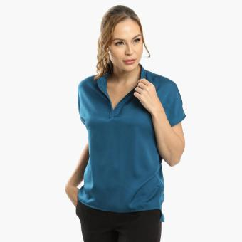 SM Woman Career High-Low Blouse (Green) Price Philippines