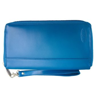 Big Skinny Leather Panther Wallet (Ocean Blue) Price Philippines