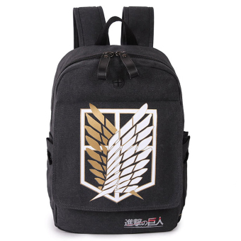 Attack on Titan Cosplay Backpack School Canvas Bag Rucksack Black - Intl Price Philippines