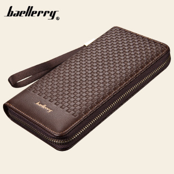 BYT Baellery Multifunctional Long Men Leather Wallet Handy Pouch 6055 (Brown) Price Philippines