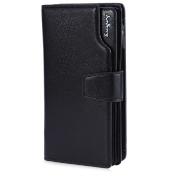Baellerry Men Three-folded Long Purse/Wallet (Black) - Intl Price Philippines