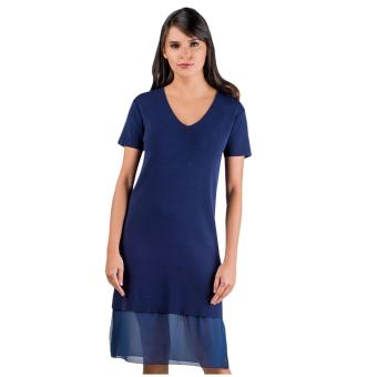 Harga Plains & Prints Marco Short Sleeves Dress (Navy)