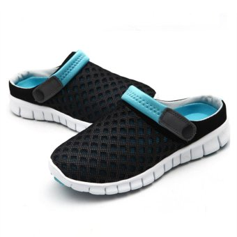 Harga Flatform Shoes Flip Flops Comfortable Breathable Men Leisure Slippers Net Yarn Candy Color Men and Women Sandals - intl
