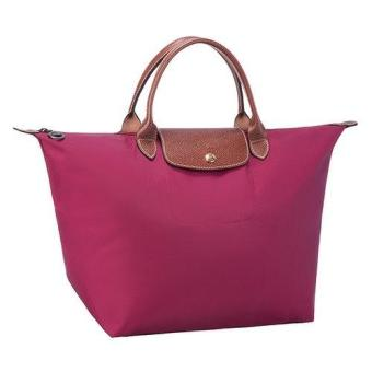 Longchamp Le Pliage Nylon Medium Short Handle Handbag Tote Bag Medium (Fuchsia) Price Philippines