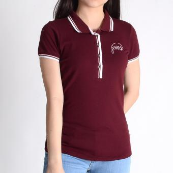 Harga Crissa Collared Shirt Pique with Embro Detail CLT23-115 (Wine)