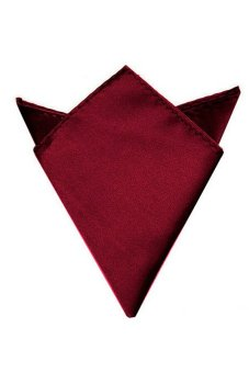 Amango Men Suit Pocket Square Towel Handkerchief (Wine Red) Price Philippines