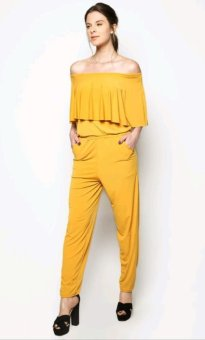 Harga Marian Off Shoulder Jumpsuit (Mustard)