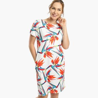 SM Woman Prima Bird Of Paradise Shift Dress (Off White) Price Philippines