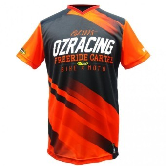 Ozracing Cartel Free Ride Jersey Tee (Red/Black) Price Philippines