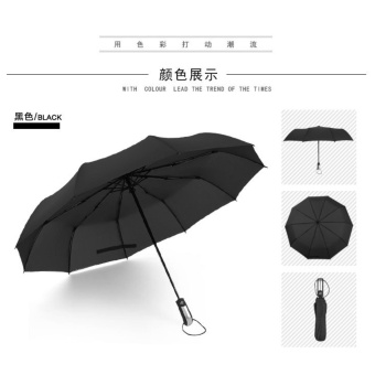 Harga Explosion automatic umbrella 10K seventy percent off umbrella (black) - intl