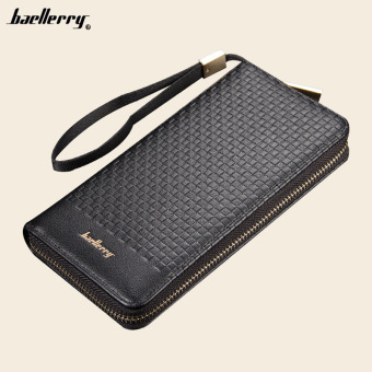 BYT Baellery Multifunctional Long Men Leather Wallet Handy Pouch 6055 (Black) Price Philippines