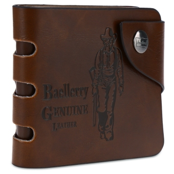 Baellerry Figure Pattern Hollow Transverse Wallet Leather Credit Card Bifold Purse for Men - intl Price Philippines
