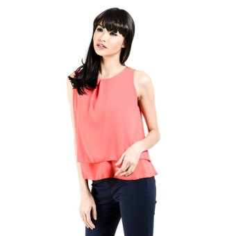 Jasmin Collection Fashion Haus Sari Sleeveless Layered 4 Top (Pomelo) Price Philippines