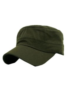 Ai Home Unisex Classic Army Vintage Hat Cadet Military Patrol Plain Cap Hats (Army Green) - Intl Price Philippines