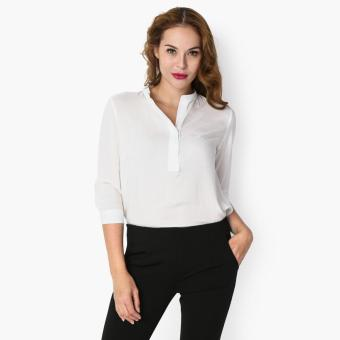 SM Woman Career High-Low Blouse (White) Price Philippines