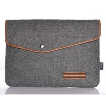 "Harga Makiyo 11"" 12"" 13"" 15""size wool felt envelope notebook laptop bag for Macbook(13inch/dark gray) - intl"