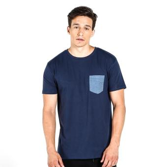Penshoppe Semi Fit Tee With Pocket Detail (Navy Blue) Price Philippines
