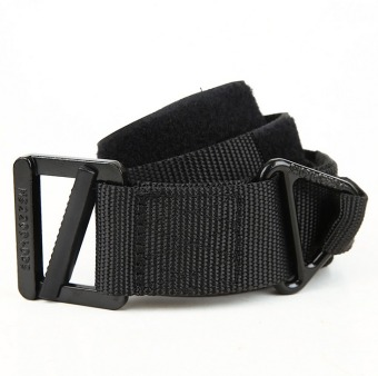 Harga NEW Sports Outdoor Belts Man and Women belt High strength nylon Belt Outdoor CQB Tactical Rappelling Downhill Army Military Belt Color:Black HZ387