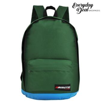 Harga Everyday Deal Merletto Fashion School Backpack (Green)