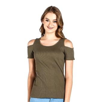 Harga PENSHOPPE Cut Out Shoulder (Olive)