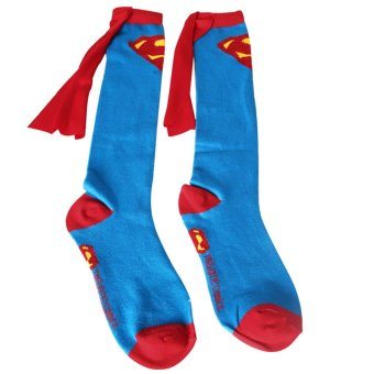 Unisex Super Hero Superman Batman Knee High With Cape Soccer Cosplay Socks New Price Philippines