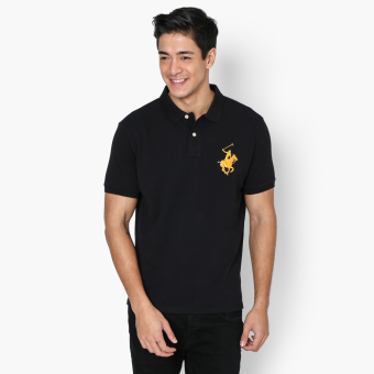 Beverly Hills Polo Club Collar Pop Mens Polo Shirt (Black) Price Philippines