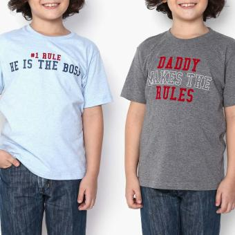 Harga jusTees Boys 2-Piece Daddy Is The Boss Who Rules Statement Tee Set (Size 12)