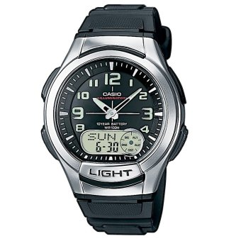 Harga Casio General Men's Black Resin Strap Watch AQ-180W-1BVDF