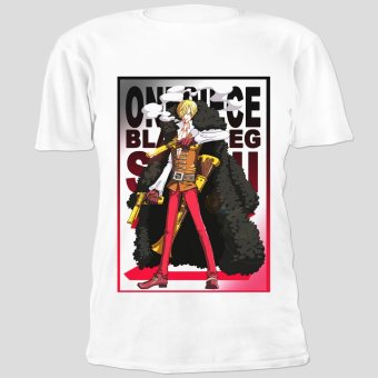 Anime One Piece Film Z Black Leg Sanji Cool Cotton Slim Tops Printed Unisex Tee Shirts (White) Price Philippines