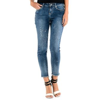 FORME Skinny Jeans With Splatter Detail (Blue) Price Philippines