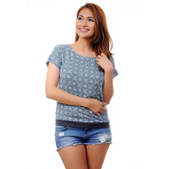 Stamped Kichi Casual Top (Blue) Price Philippines