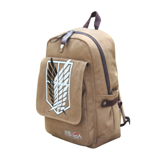 Attack on Titan Cosplay Backpack School Canvas Bag Rucksack Khaki - Intl Price Philippines