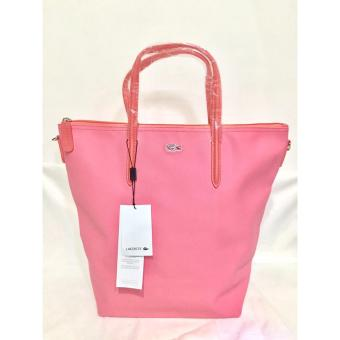 LACOSTE WOMEN'S L.12.12 CONCEPT VERTICAL TOTE BAG PINK Price Philippines
