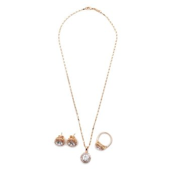 Glamorosa Queen of Cut Diamond Jewerly Set (Gold) Price Philippines
